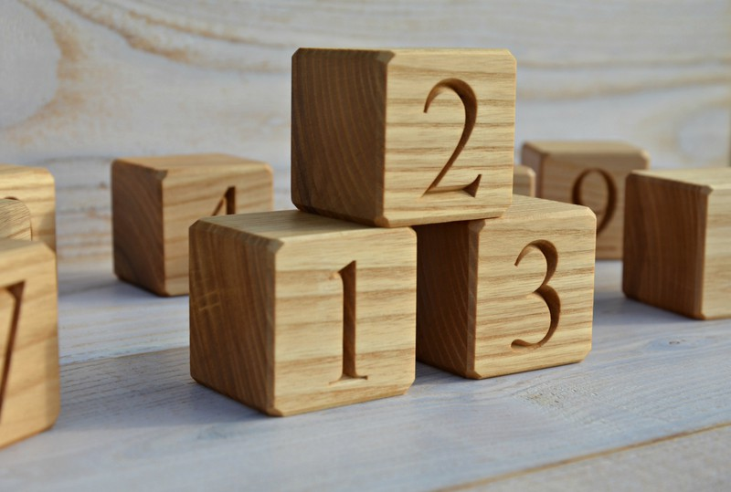 Big Wood Blocks ~ Usd to wood number blocks inches large