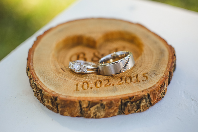 personalized wood ring holder rustic wedding ring bearer pillow oak wood ring box - Wedding Ring Holder