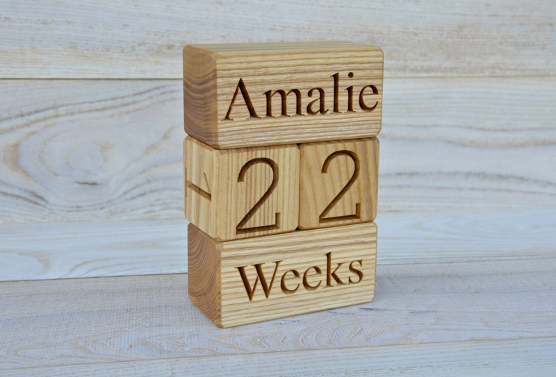 3570 usd personalized wood baby age blocks for baby shower new personalized wood baby age blocks for baby shower new baby birthday gift idea photo props nursery decor and maternity blocks negle