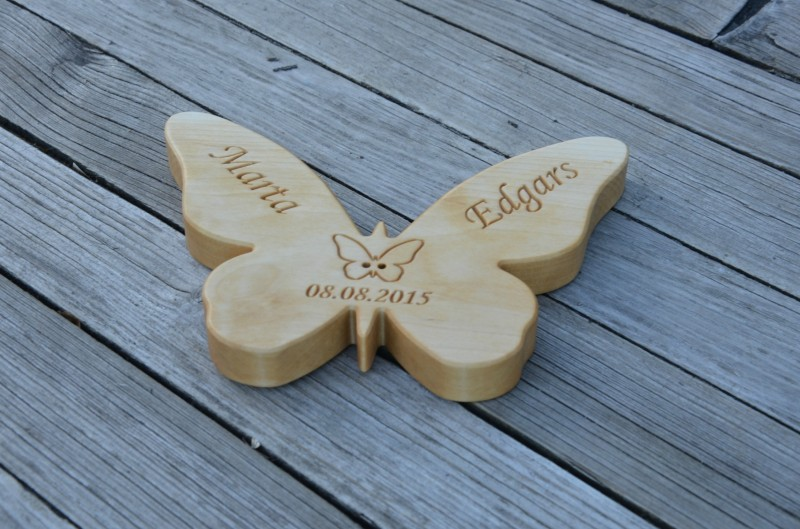 4200 USD Personalized Wood Wedding Ring Bearer Pillow Rustic