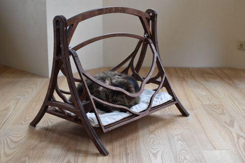 355 00 Cat Swings Wood Bed Pets Wood Hammock Basket Cat Furniture