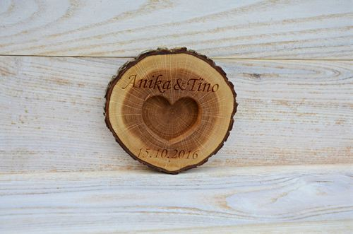 d2bd526893 Personalized Rustic Wood Ring Holder, Rustic Wedding Ring Bearer Pillow, Oak  Tree Ring Box