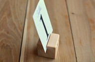 10 Wood Place Card Holders for Wedding and Party, DIY Rustic Table Number Holders