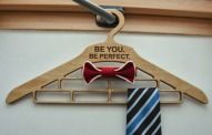 Personalized Wooden Hanger for Ties, Bow Ties, Scarf, Gift for Him, Wood Organizer, Christmas Holiday Gift, 5th Wedding Anniversary Gift