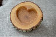 Rustic Wood Ring Holder, Oak Wedding Ring Bearer Pillow, Ring Box, Oak Tree Slice