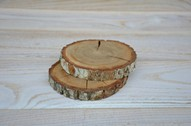 6 pieces of 4'' Oak Wood Coasters, Oak Wood Slices, Oak Drink Coaster, Rustic Table Decor, Rounded Oak Coasters
