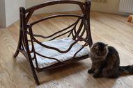 Cat Swings Wood Bed Pets Wood Hammock Basket Cat Furniture Cat Cave Cat Shelter Wood Swing Set