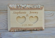 Personalized Birch Wood Ring Box Rustic Wedding Ring Bearer Pillow Wedding Ring Holder Wood Ring Bearer Rustic Wedding Decor