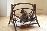 Cat Swings Wood Bed Pets Wood Hammock Basket Cat Furniture Cat Cave Cat Shelter Wood Swing Set