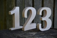 1-10 5'' Wooden Numbers, Free Standing Wedding Table Numbers, Rustic Wedding Decors, Numbers for Tables, Home Decor or Nursery, Photo Props