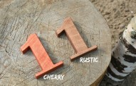 1-10 4'' Rustic Wooden Table Numbers, Free Standing Wedding Table Numbers for Rustic Wedding, Stand Alone Cafe or Restaurant Table Numbers