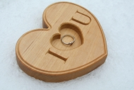 Personalized Wood Ring Box for Valentines Day, Engagement Ring, Wedding, Proposal Rustic Ring Holder, Ring Bearer Pillow, Wood Jewelry Box