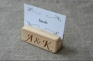 10 Personalized Wood Place Card Holders for Weddings, DIY Rustic Number Holders, Custom Cafe or Restaurant Menu Holder