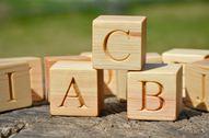 30 Wooden German Alphabet Letter Blocks, Handmade ABC Blocks, Wood Letter Cubes, Natural Toy Building Blocks, Birthday Gift Idea