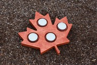 Advent Wood Candle Holder in Shape of Canada Maple Leaf Patriotic Home Decor Rustic Tea Light Candleholder