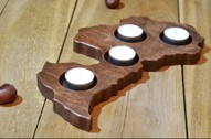 Advent Wood Candle Holder in a shape of Country or State Latvia Shape Candle Holder Patriotic Home Christmas Decor Rustic Tea Light Holder
